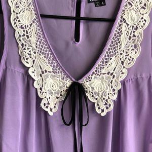 Lavender Blouse